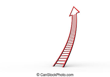 Red ladder arrow graphic