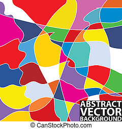 colorful abstract background - Colorful abstract vector...