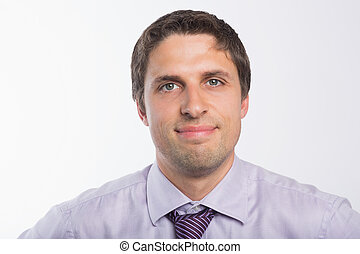 Close-up portrait of a green eyed businessman - Close-up...
