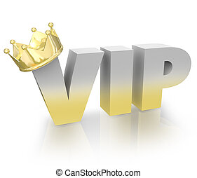 VIP Very Important Person Gold Crown Official King Executive...