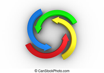 Colorful arrow circle