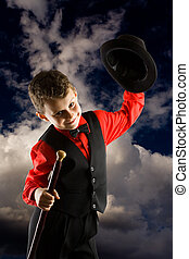 Little dancer - Gorgeous kid dancer on a dramatic dark sky...