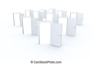 Many doors opening