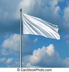White Flag - White flag surrender symbol as a metaphor for...