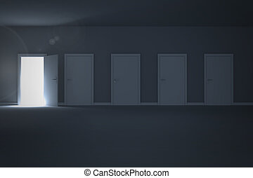 Door opening revealing light