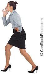 mujer de negocios, gritos