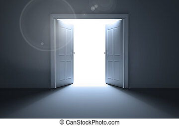Doors opening revealing light