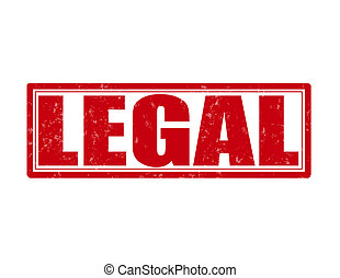 Legal - Stamp with word legal inside, vector illustration