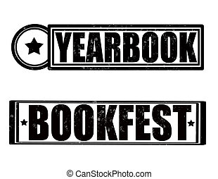 Yearbook - Stamp with text yearbook inside, vector...