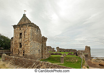 St Andrews Castle Ruins Medieval Landmark. Fife, Scotland