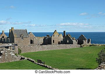Dunnottar, castelo, em, Aberdeen, Escócia