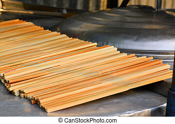 Countless chopsticks as used in Asian cuisine - Countless...