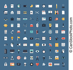 Business and finance flat icons big set - Flat icons design...