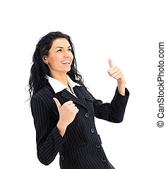 attractive young woman - An attractive young woman gesturing...