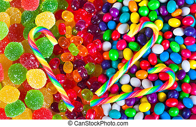 background from colorful sweets of sugar candies - close up...