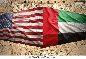 United Arab Emirates and United States of America - Waving...