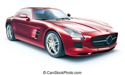 Super sports car on a white background