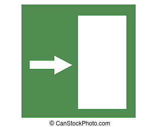 Green Emergency Door Right