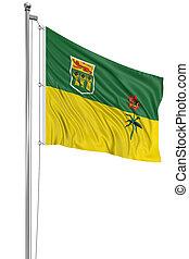 3D Saskatchewan Flag - Rendering of flag Saskatchewan with...