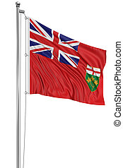 3D Ontario Flag - Rendering of flag Ontario with fabric...