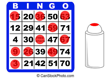 Bingo card - A bingo card and ink marker