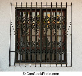 Window - window in Spain with ornate bars and grill