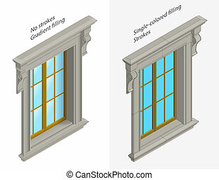 isomentic windows - high detailed isomentic windows with...