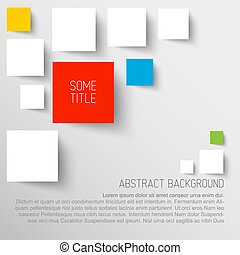 Vector abstract rectangles background illustration...