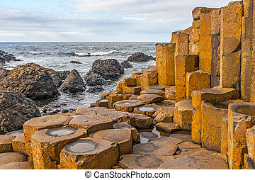 Giant's Causeway, Northern Ireland - Giant's Causeway in...