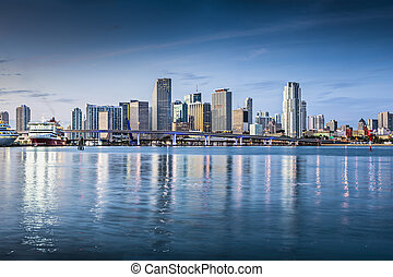 Miami Skyline - Miami, Florida, USA downtown skyline