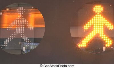LED display - Traffic light the pedestrian crossing