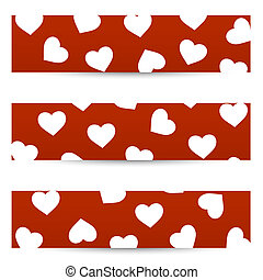 Valentine seamless banners - Collection of valentine...