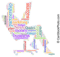 Word Cloud of Business - Beautiful word cloud of business...