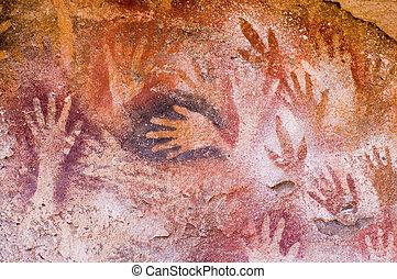 antiguo, Cueva, pinturas