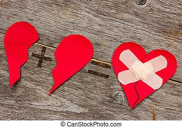 quebrada, conectando, Coração
