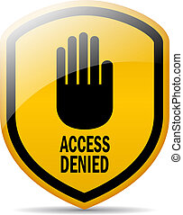 Access denied vector symbol