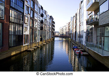 Modern urban appartments - A very modern appartment area in...