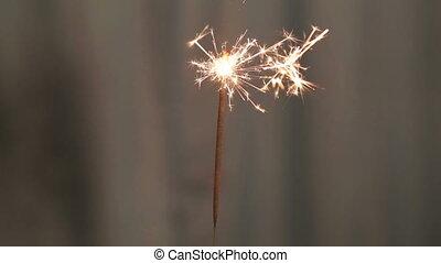 sparkler burning