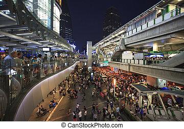Bangkok Thailand - Jan13 - group of thailand government proteste