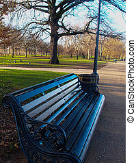 Bench at Hyde Park, London