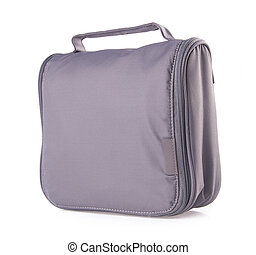 toiletry bag on a background - toiletry bag on the...