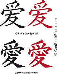 Chinese and Japanese love symbol