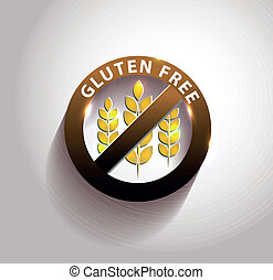 Beautiful gluten free symbol with light shades