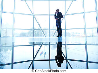 Business call - Image of successful businessman speaking on...