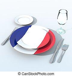 francia,  bandiera,  3D