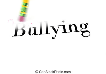 Erasing Bullying with Pencil Eraser - Person using a pencil...