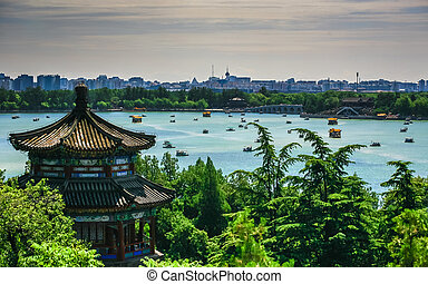 Aerial View of Beautiful Summer Palace - Summer palace,...