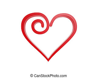 red love heart symbol