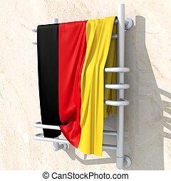 germania,  bandiera,  3D