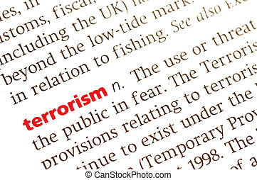 Terrorism - Dictionary definition of terrorism